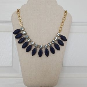 J.Crew Necklace Statement Piece in Blues Gold